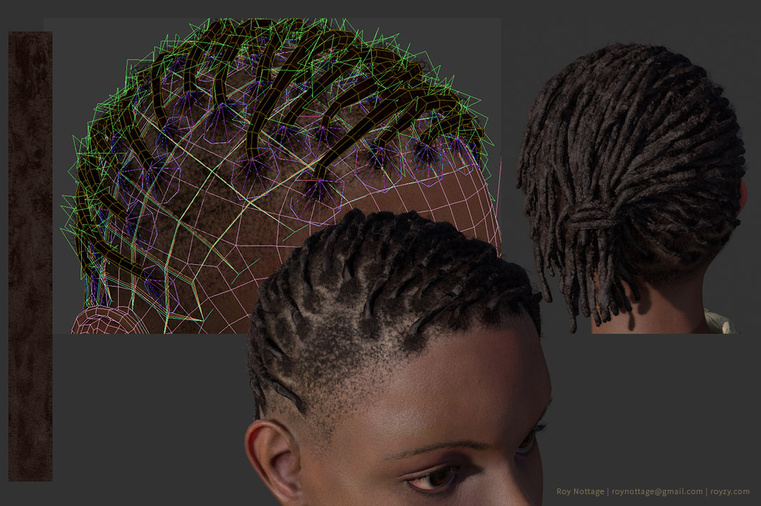 Hair Process for 3D Dreadlocks / Braids