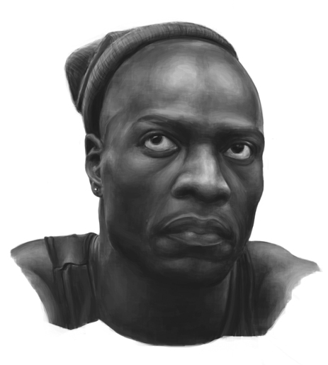 Sketchbook Digital Painting Study of Oz Simon Adebisi