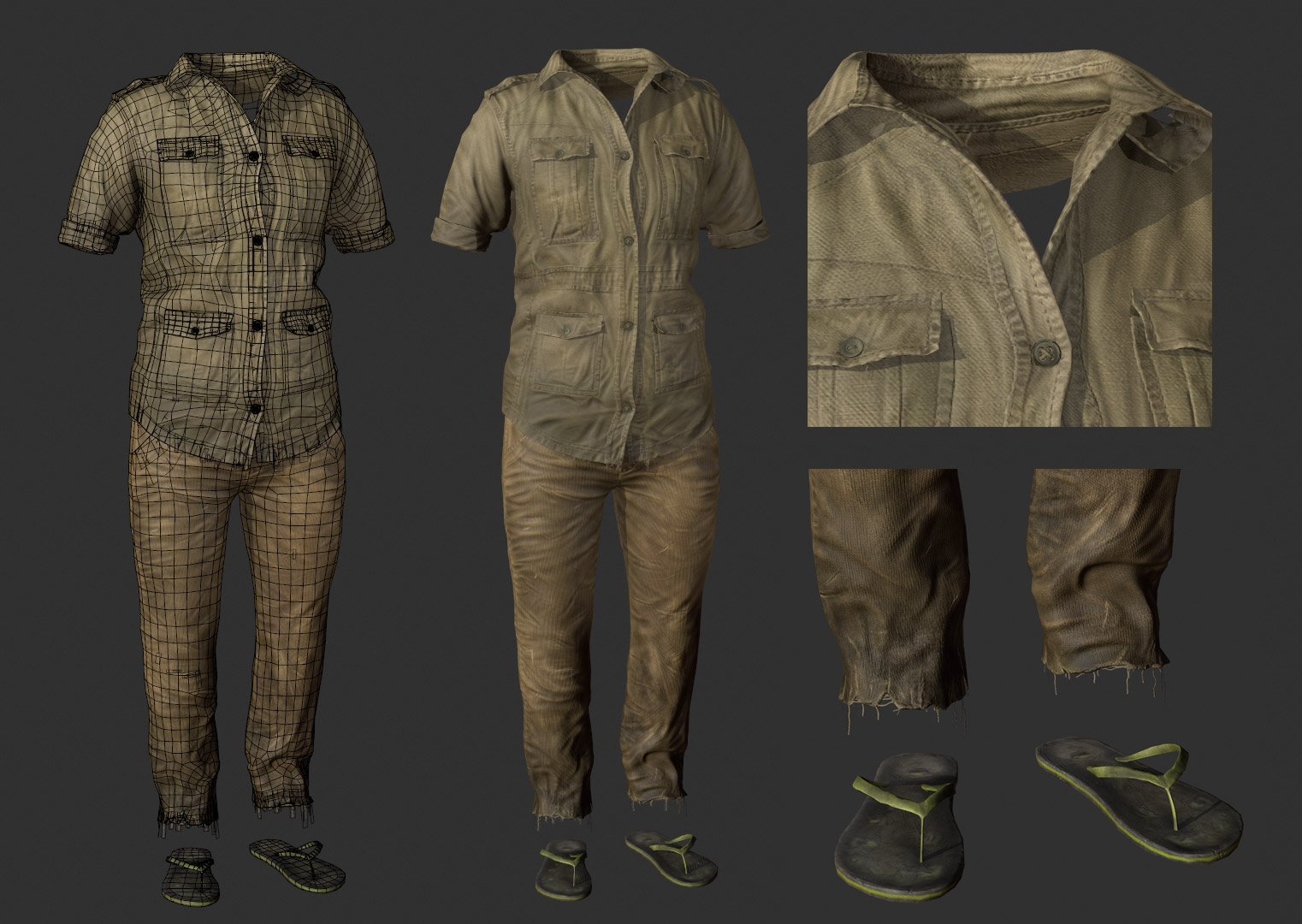 3D Game Art Clothing