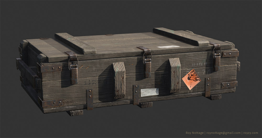 3D Model of RPG Ammo Crate